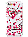 Pour Phosphorescent / IMD Coque Coque Arriere Coque Fleur Flexible TPU pour AppleiPhone 7 Plus / iPhone 7 / iPhone 6s Plus/6 Plus /