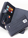 For Samsung Galaxy Note 5 Note 4 Case Cover Card Holder Wallet Case Full Body Case Solid Color Hard Genuine Leather