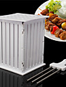 BBQ Grill 36 Hole Skewers Food Slicer Brochette Grill Kebab Maker Box Kit Tool