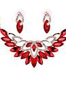 Набор украшений Кристалл Хрусталь Сплав Красный Прозрачный Светло-коричневый 1 пара сережек Ожерелья Для Свадьба Для вечеринок 1 комплект