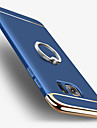 For Samsung Galaxy S7 edge S7 Plating Ring Holder Case Back Cover Case Solid Color Hard PC