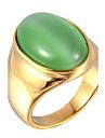 Кольца Опал Повседневные Бижутерия Титановая сталь Опал Женский Мужчины Массивные кольца Кольцо 1шт,7 8 9 10 11Белый Красный Синий