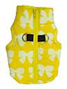 Собаки Жилет Одежда для собак Зима Весна/осень Однотонный Милые На каждый день Желтый Синий Розовый Светло-синий
