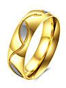Кольца Повседневные Бижутерия Нержавеющая сталь Титановая сталь Мужчины Кольцо 1шт,7 8 9 10 Желтое золото