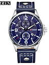 Men\'s Sport Watch Military Watch Fashion Watch Wrist watch Quartz Calendar Genuine Leather Band Vintage Casual Multi-Colored