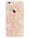 Para Ultra-Fina Estampada Capinha Capa Traseira Capinha Animal Macia TPU para AppleiPhone 7 Plus iPhone 7 iPhone 6s Plus/6 Plus iPhone