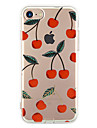 Para iPhone X iPhone 8 iPhone 7 iPhone 7 Plus iPhone 6 Case Tampa Ultra-Fina Estampada Capa Traseira Capinha Fruta Macia PUT para Apple