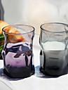 Прозрачный Классика Стаканы, 300 ml Эргономический дизайн Стекло Пиво Сирень-розовый Стекло