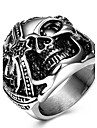 Men\'s Ring Rock Statement Titanium Steel Unique Fashion Cool Punk Skull Ring For Men Finger Rings Party Daily Casual Jewelry Vintage