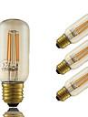 4W E26/E27 LED лампы накаливания T 4 COB 350 lm Янтарный Регулируемая Декоративная AC 220-240 V 4 шт.
