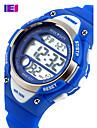 남성용 스포츠 시계 드레스 시계 스켈레톤 시계 패션 시계 손목 시계 디지털 시계 석영 디지털 실리콘 밴드 참 캐쥬얼 멀티컬러
