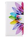 Pour Portefeuille Porte Carte Avec Support Clapet Coque Coque Integrale Coque Fleur Dur Cuir PU pour Samsung J5 (2016) J3 (2016) J3 Prime