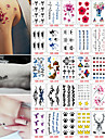 30 Tatuagens Adesivas Outros nao toxicaBebe Crianca Feminino Masculino Adolescente Tatuagem Adesiva Tatuagens temporarias
