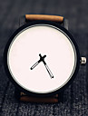 Unisex Fashion Watch Quartz Leather Band Black Brown