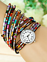 Women\'s Fashion Watch Quartz Ceramic Band Charm Casual Black Blue Red Brown Green Pink Purple Rose