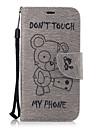 Для Кошелек Бумажник для карт со стендом Флип Кейс для Чехол Кейс для Животный принт Твердый Искусственная кожа для SamsungA3 (2017) A5