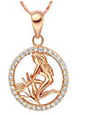 Feminino Colares com Pendentes Joias Prata de Lei 18K ouro Joias de Luxo bijuterias Vintage Euramerican Joias Para Aniversario Diario