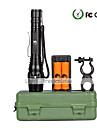 조명 LED손전등 손전등 키트 LED 2000 루멘 5 모드 Cree XM-L T6 18650 조절가능한 초점 캠핑/등산/동굴탐험 일상용 야외 알루미늄 합금