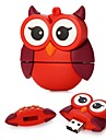 16GB Big Eyes Red Owl USB 2.0 Flash Drive for Festival Gift / Business / Storage