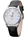 Fashion Watch Wrist watch Quartz Leather Band Cool Casual Black Brown