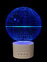 1 шт. 5 цветов оригинальные подарки для дома bluetooth аудио ручка управления 3D ночник