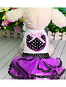 Dog Dress Dog Clothes Cute Casual/Daily Fashion Princess Purple