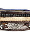 Wrap Bracelet Alloy Leather Feather Vintage Punk Men\'s Women\'s Jewelry 1pc