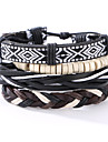 The New Vintage Cowhide Ancient Hand Woven Bracelet Cortical Layers Hand Rope Men\'s Bracelet Adjustable Size041