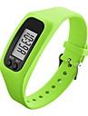 Da uomo Da donna Orologio sportivo Orologio da polso Digitale LCD Pedometro Colorato Silicone Banda CaramelleNero Bianco Blu Verde Giallo