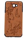 Pour Relief Motif Coque Coque Arriere Coque Fleur Dur Cuir PU pour Samsung J7 Prime J5 Prime J5
