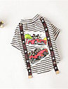Dog Shirt / T-Shirt Dog Clothes Cute Casual/Daily Stripe Black Ruby