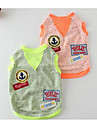 Dog Dress Dog Clothes Cute Casual/Daily Fashion Cartoon Orange Light Green