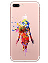 Pour Transparente Motif Coque Coque Arriere Coque Dessin Anime Flexible PUT pour AppleiPhone 7 Plus iPhone 7 iPhone 6s Plus iPhone 6 Plus
