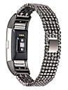 para Fitbit taxa de 2 de luxo de estilo talao de aco relogio inteligente mulheres substituicao de moda pulseira feminina pulseira pulseira
