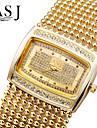 ASJ Women\'s Fashion Watch Bracelet Watch Simulated Diamond Watch Japanese Quartz Imitation Diamond Rhinestone Copper BandSparkle Elegant