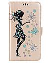 Назначение Чехлы панели Кошелек Бумажник для карт со стендом Флип С узором Магнитный Чехол Кейс дляБабочка Соблазнительная девушка Сияние