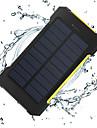 The New 8000mah Ddual-Usb Solar Powered Mobile Power