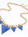 Women\'s Statement Necklaces Geometric Triangle Shape Resin Alloy Unique Design Fashion Punk Jewelry ForAnniversary Birthday Gift Casual