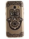 Для Samsung galaxy a3 a5 (2016) (2017) крышка корпуса цветка пальмы hd окрашенный сверло tpu материал imd процесс high penetration phone