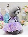 Собаки Платья Одежда для собак Лето Принцесса Милые Мода На каждый день Серый Лиловый