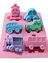1Pcs 21*16.5*2.5Cm  Thomas The Train Cars And So On Six Hole Mould  Chocolate Sugar Baking Cake Tools