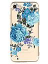 애플 아이폰 7 7 플러스 6s 6 플러스 케이스 커버 꽃 패턴 높은 침투 tpu 소재 소프트 케이스 전화 케이스 그린