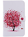 For Samsung Galaxy Tab 4 7.0 Tab 3 7.0 Card Holder Wallet with Stand Auto Sleep/Wake Flip Pattern Case Full Body Case Tree Hard PU Leather