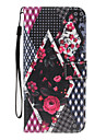 For iPhone 7Plus 7 PU Leather Material Flower Pattern Wallet Section Phone Case for 6 Plus 6S 5 SE