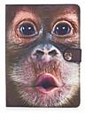 애플 ipad 프로 9.7 \'ipad 공기 2 ipad 공기 ipad 4 3 2 커버 커버 원숭이 패턴 카드 스텐 트 지갑 pu 피부 소재 플랫 보호 쉘