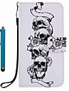 For Samsung Galaxy A3 A5 2017 Card Holder Wallet with Stand Case Full Body Case Skull Hard PU Leather A3 A5 2016