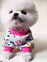 Gato Cachorro Pijamas Roupas para Caes Fofo Casual Animal Laranja Vermelho Azul Rosa claro