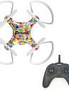Drone RC 4CH 3 Eixos 2.4G - Quadcopero com CRIluminacao De LED Retorno Com 1 Botao Modo Espelho Inteligente Voo Invertido 360° Aviso De