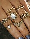 7Pcs/set Midi Rings Unique Design Vintage Alloy Crown Jewelry For Party Halloween Daily Casual 1 Set