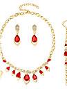 Set de Bijoux Boucles d\'oreilles / Bracelet Collier / Anneau Mode euroamericains Verre Alliage Forme de Coeur Forme Geometrique1 Collier